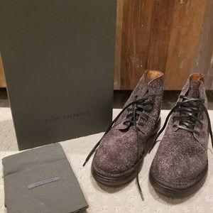 NEW John Varvatos Charcoal Venice Lace Boot 12